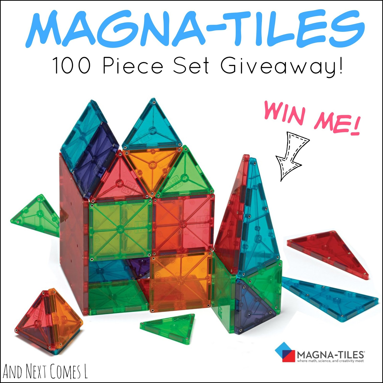 Enter to win a Magna-Tiles Clear Colors 100 piece set from And Next Comes L (ends Nov. 13, 2014)
