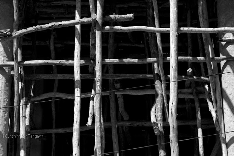 Wooden scafold in Ethiopia