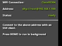 transfer file ke android menggunakan (SSHDroid + Filezilla)