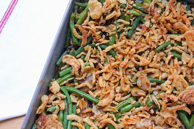 Green Been Casserole Recipe, Fancy Green Bean Casserole, Morel Mushrooms, Thanksgiving, Vegetarian