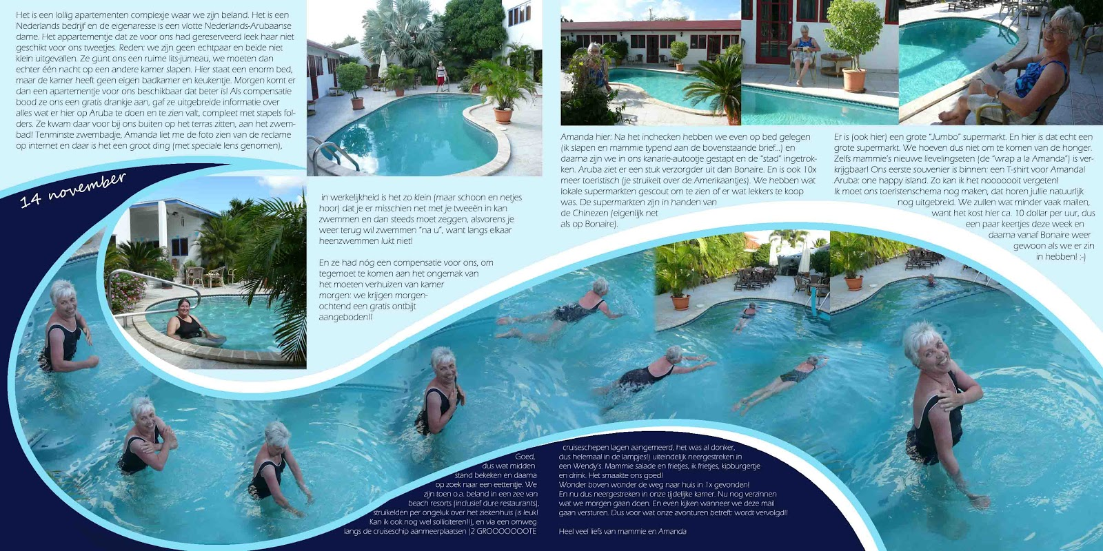 Gallery Standout Double Page Layout Project Life 2014 pool waves bonaire