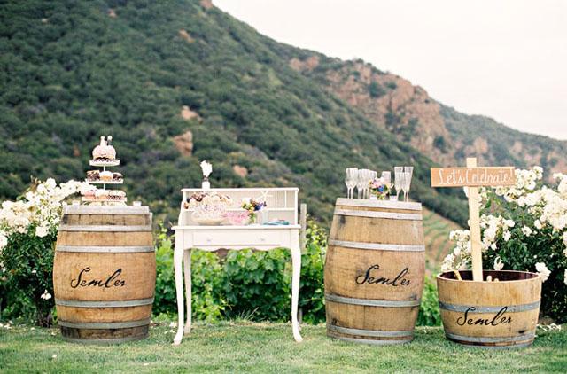 Barricas decoración en bodas, eventos, publicidad y escenografías.