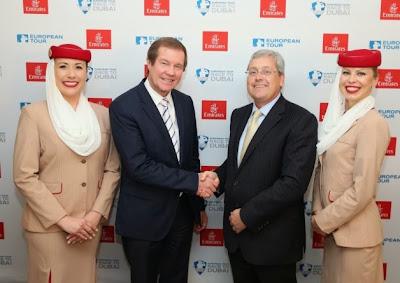Emirates amplía su relación con el European Tour de Golf