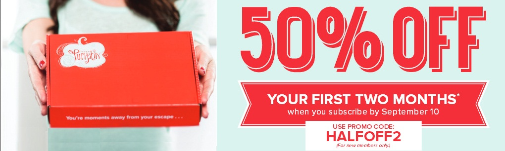 Get 50% Off First Two Months of Paper Pumpkin