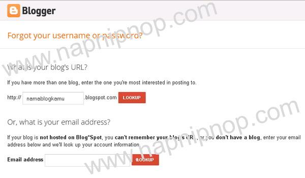 Bagaimana jika kita lupa email untuk login ke blogger?