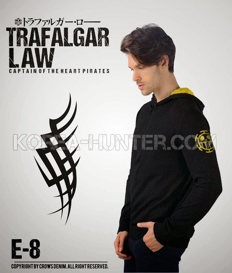 KOREA-HUNTER.com jual murah Jaket Anime One Piece - Trafalgar Law | kaos crows zero tfoa | kemeja national geographic | tas denim korean style blazer