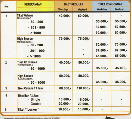 Harga Tiket The Jungle Bogor