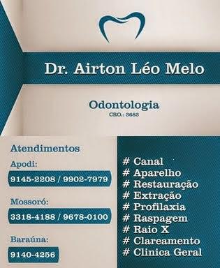 Dentista: Dr. Airton Léo Melo