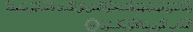 Surat Fushshilat ayat 17