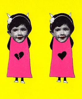 Collage de Ajo sobre dibujo de de Yamila Kuri