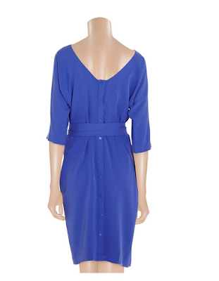 Get the Look DVF Maja silk dress in royal blue