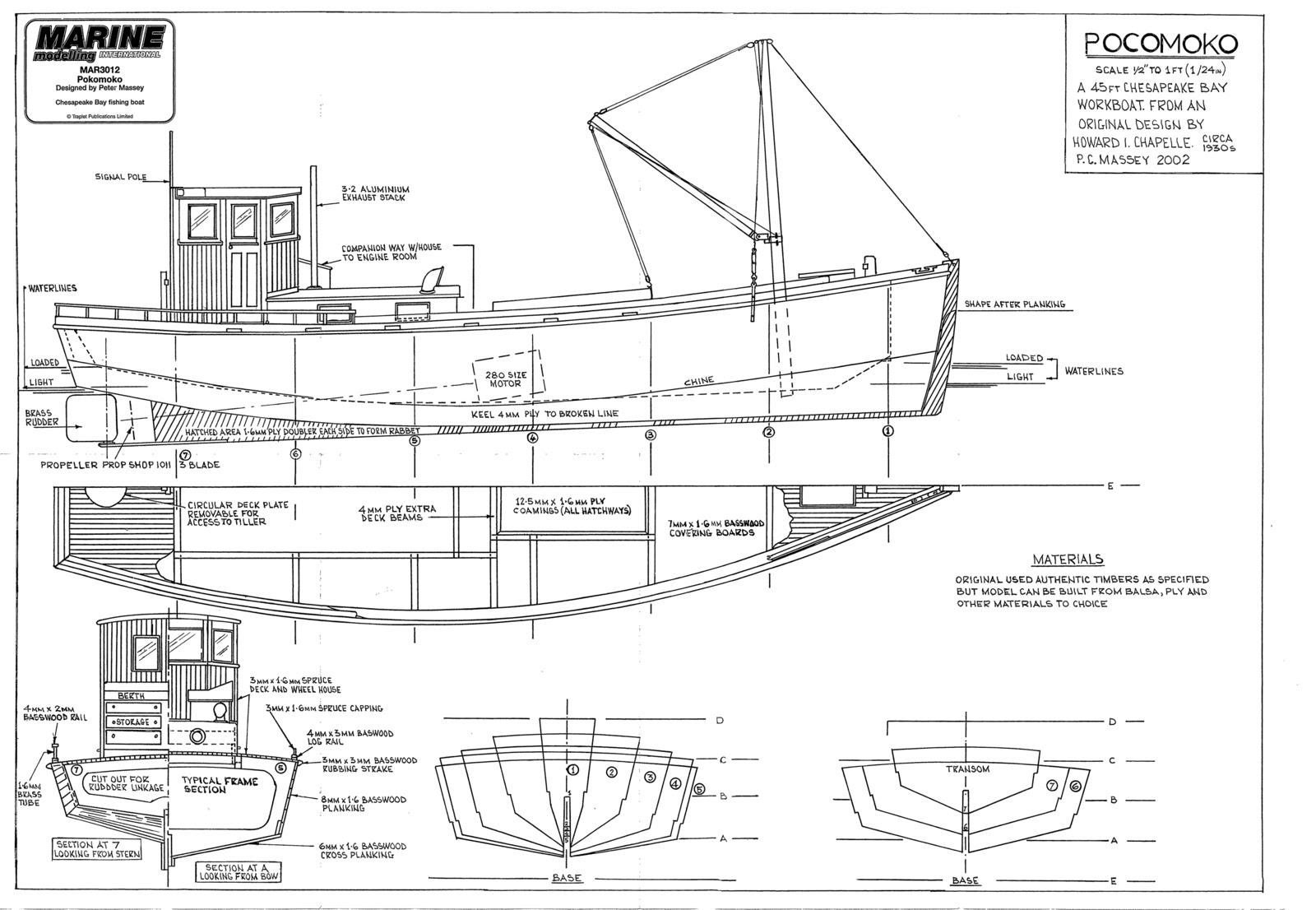 Modelismo Naval RC Cordoba: Plano Carguero Pokomo