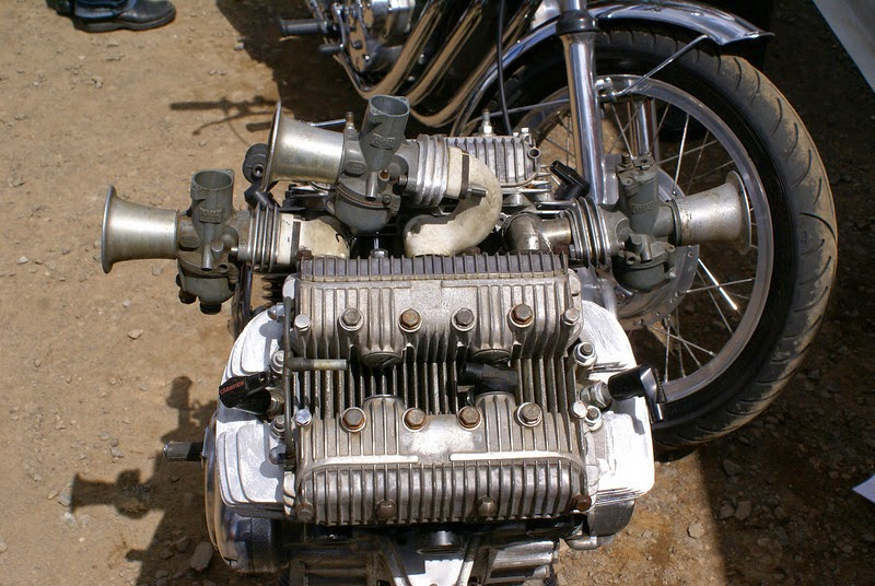 "Triumph V6 Engine This Triumph V6 Motorcycle Engine  is a  rare prototype by Mr George Pooley known as ""The Professor"" in the triples club George also made a Triumph 4 cylinder engine version ""Quadrant"". If this Triumph V6 Engine would have been fixed on a Motorcycle. it surely would have been one rare motorcycle."