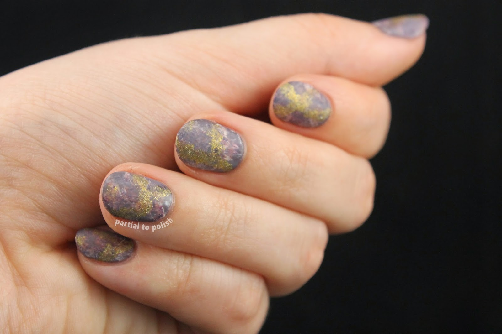 Gold Ore Nail Art for Week One of Nail Crazy in March!