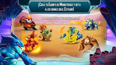 imagen de combates en monster legends ios