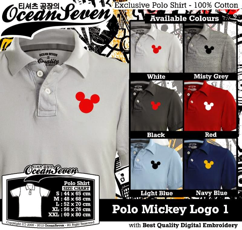 Kaos Polo Mickey Logo 1