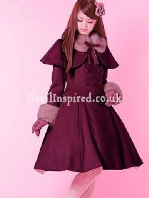 Sweet Bow Lolita Wool Cape Coat