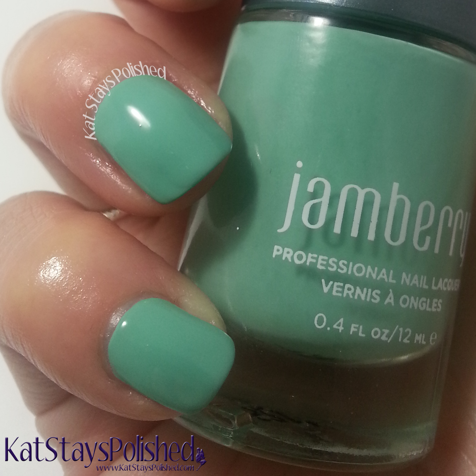 Jamberry Nail Lacquer - Hint of Mint   Kat Stays Polished