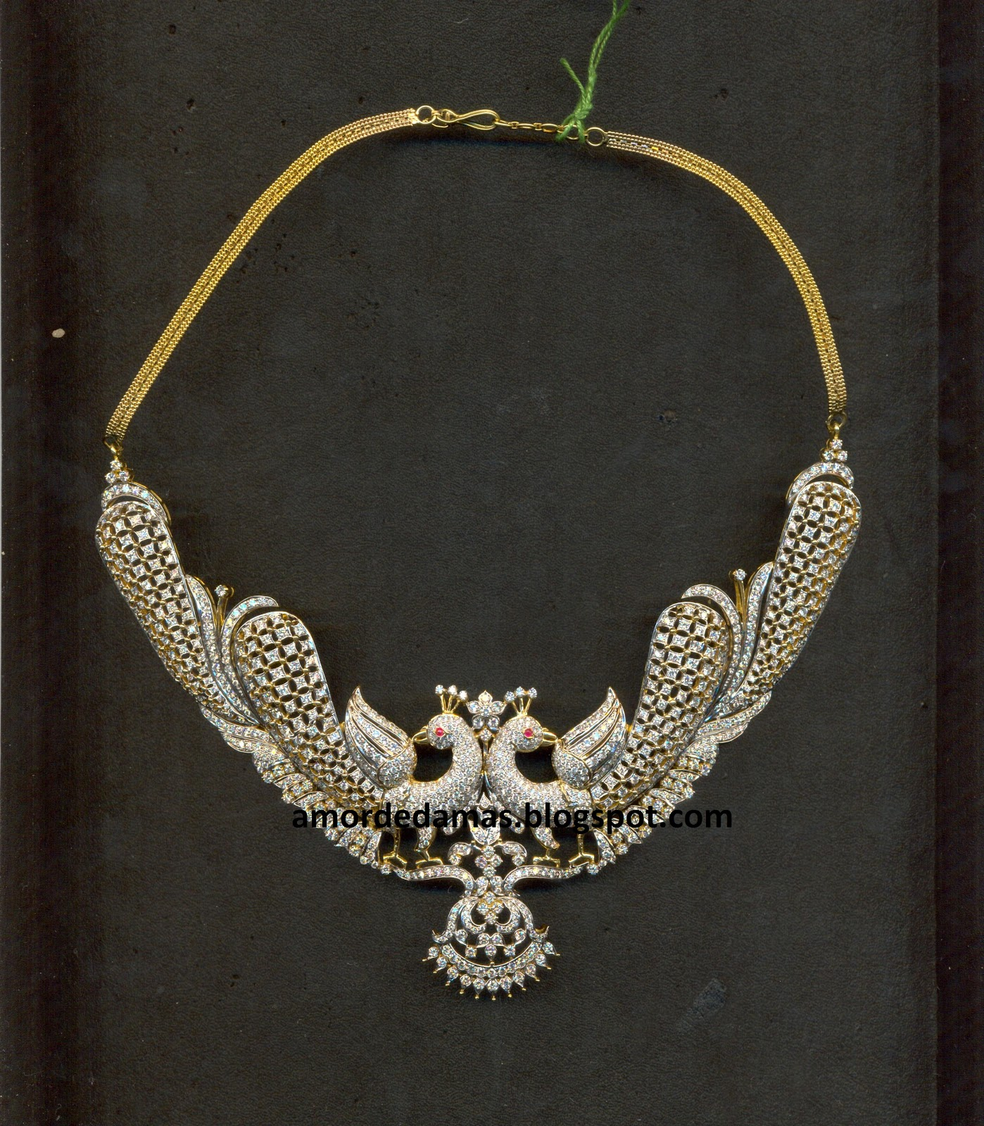 Its all about jewellery: Diamond Necklace designs