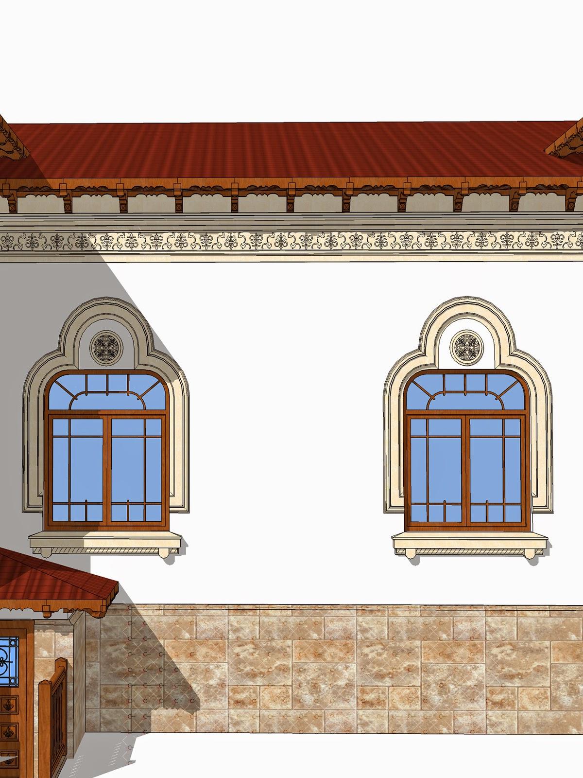 cornisa si ancadramente in stil neoromanesc, renovare fatade case clasice
