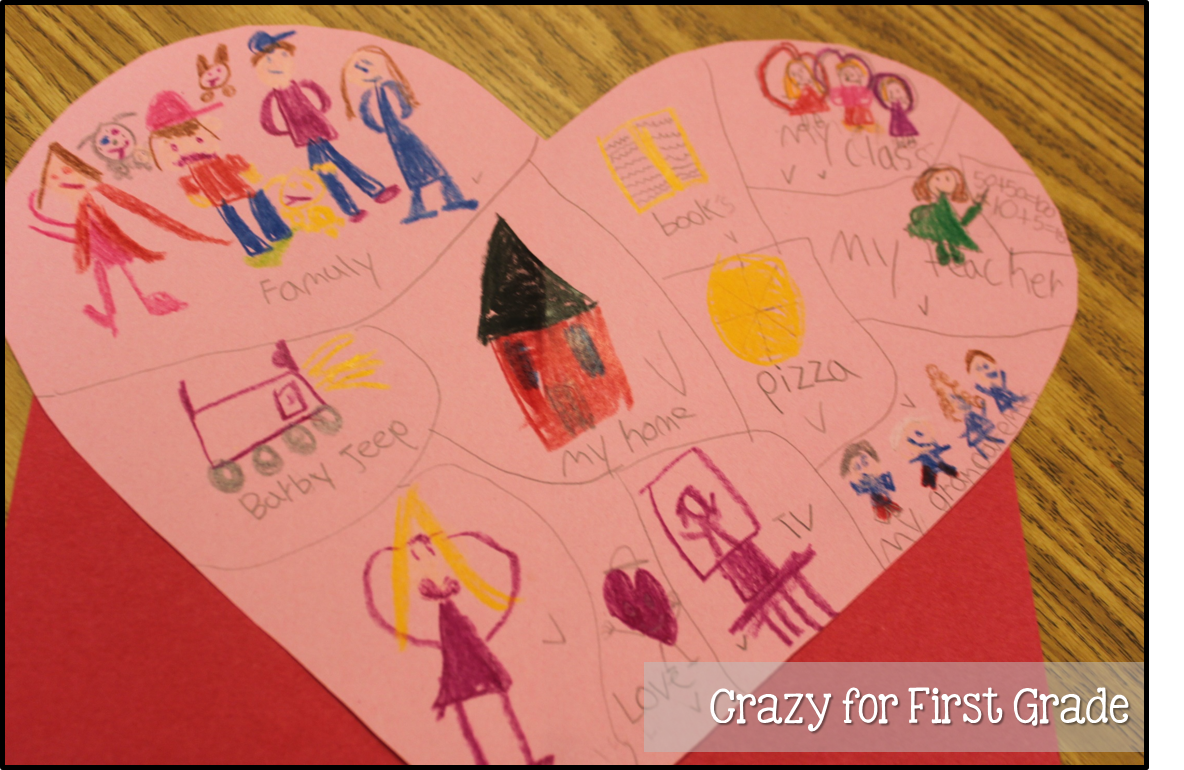 crazy for first grade my heart is full a writing freebie