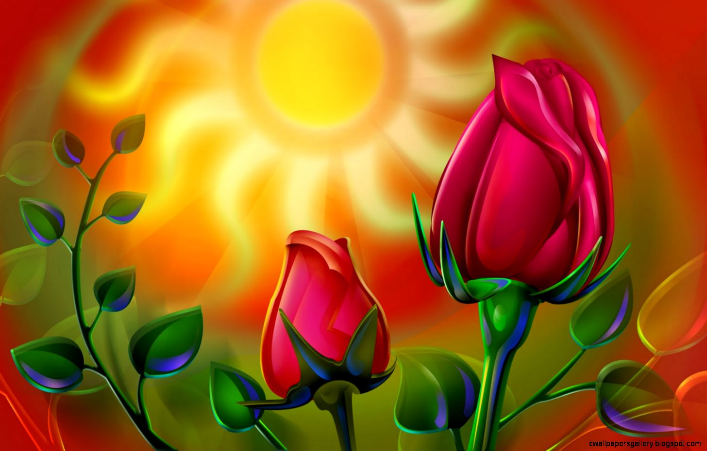 Rose Flowers Wallpaper 3d   Flowers Ideas