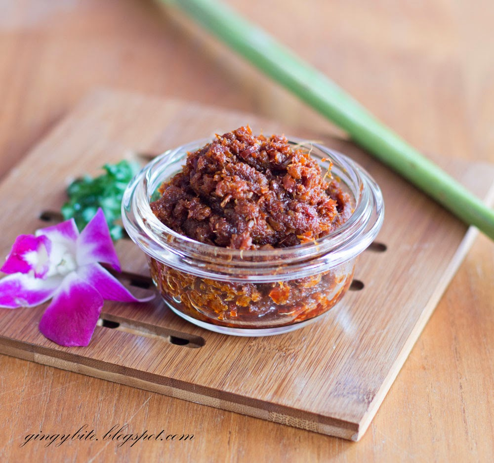 BBQ sambal stingray paste