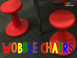 Mary at Sharing Kindergarten's Endorsement of Wobble Seat Chairs