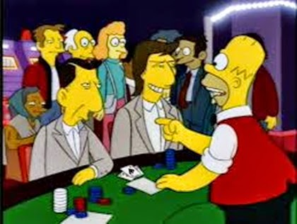 Homer Simpson playing cards