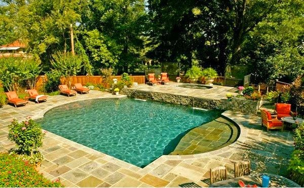 Top 10 outdoor swimming pool design houzz home for Roman style pool design
