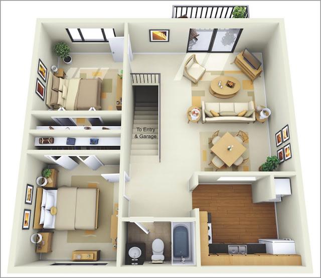 mẫu căn hộ 70m2 dễ ứng dụng