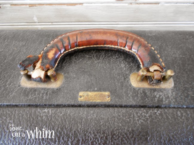 Details from a Vintage Suitcase Repurposed as a Sign | Denise on a Whim