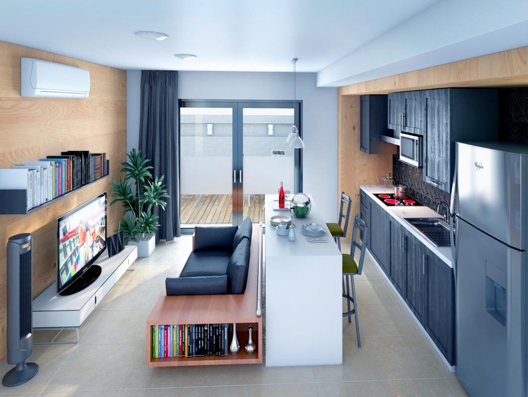 Mant n unacontinuidad en el suelo mantener el mismo for Ideas para apartamentos pequenos