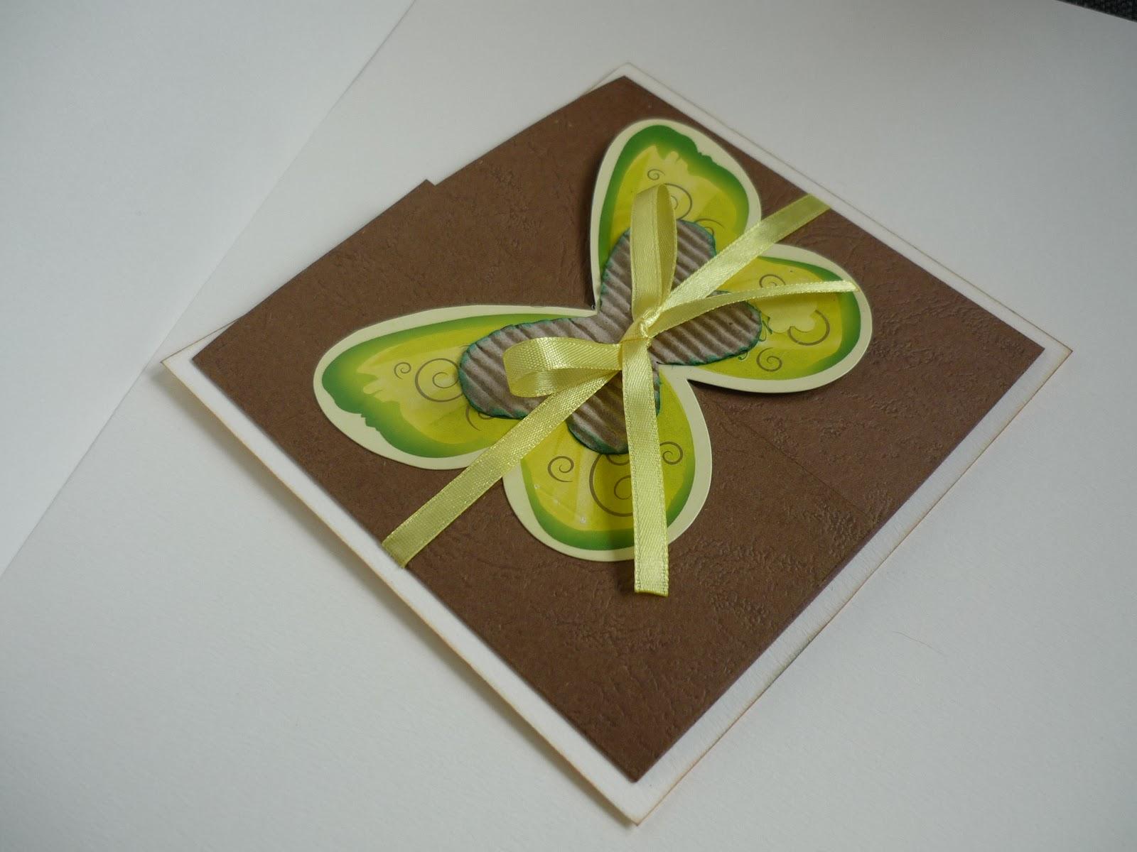 Как из открытки сделать бабочку 78
