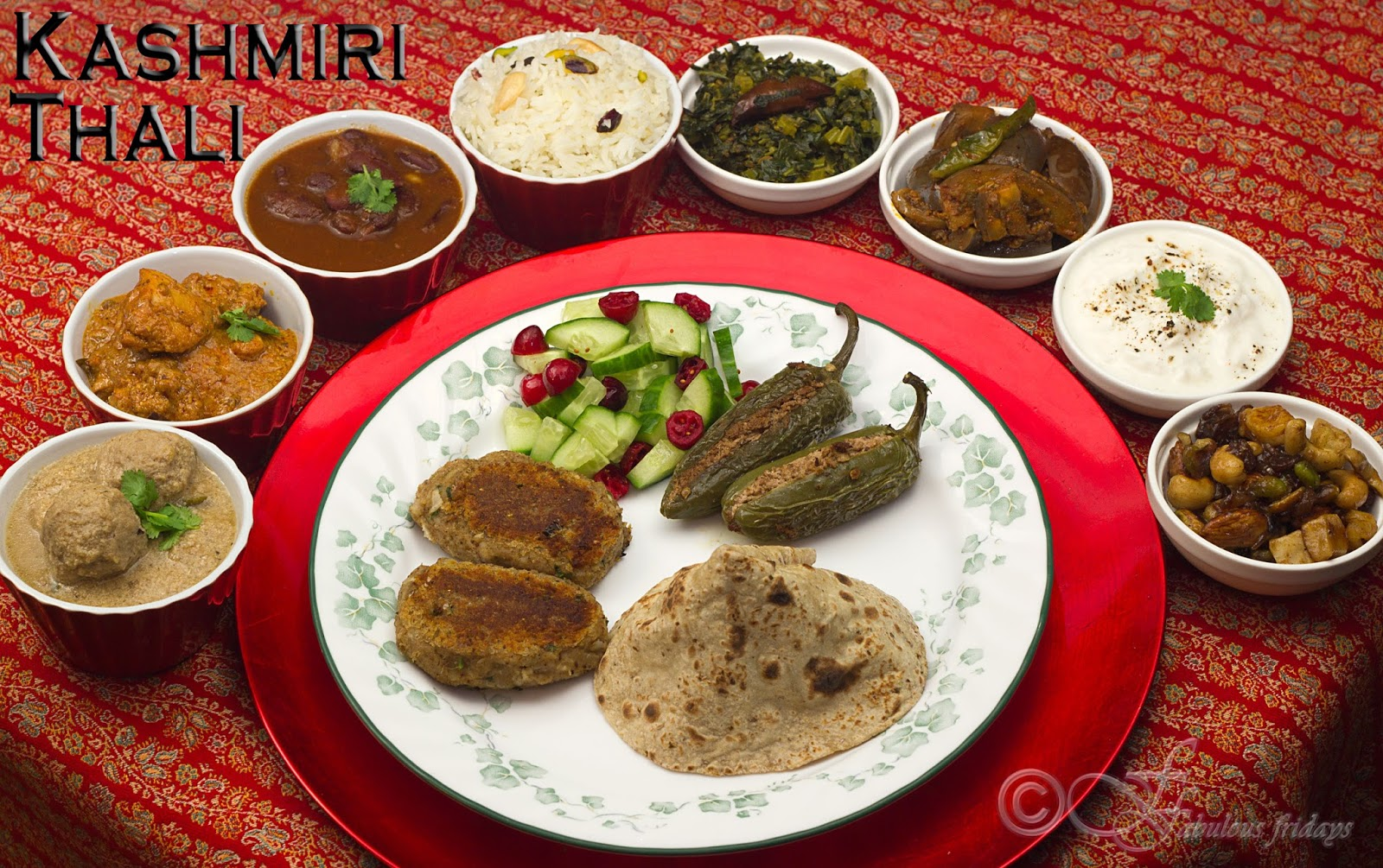 Fabulous fridays kashmiri thali this collection of dishes comes from kashmir the land of exquisite scenic beauty kashmiri cuisine has been influenced by the cooking traditions of its forumfinder Gallery