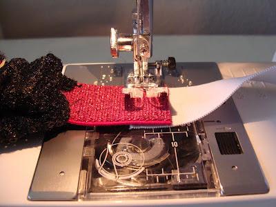 sew extra elastic piece