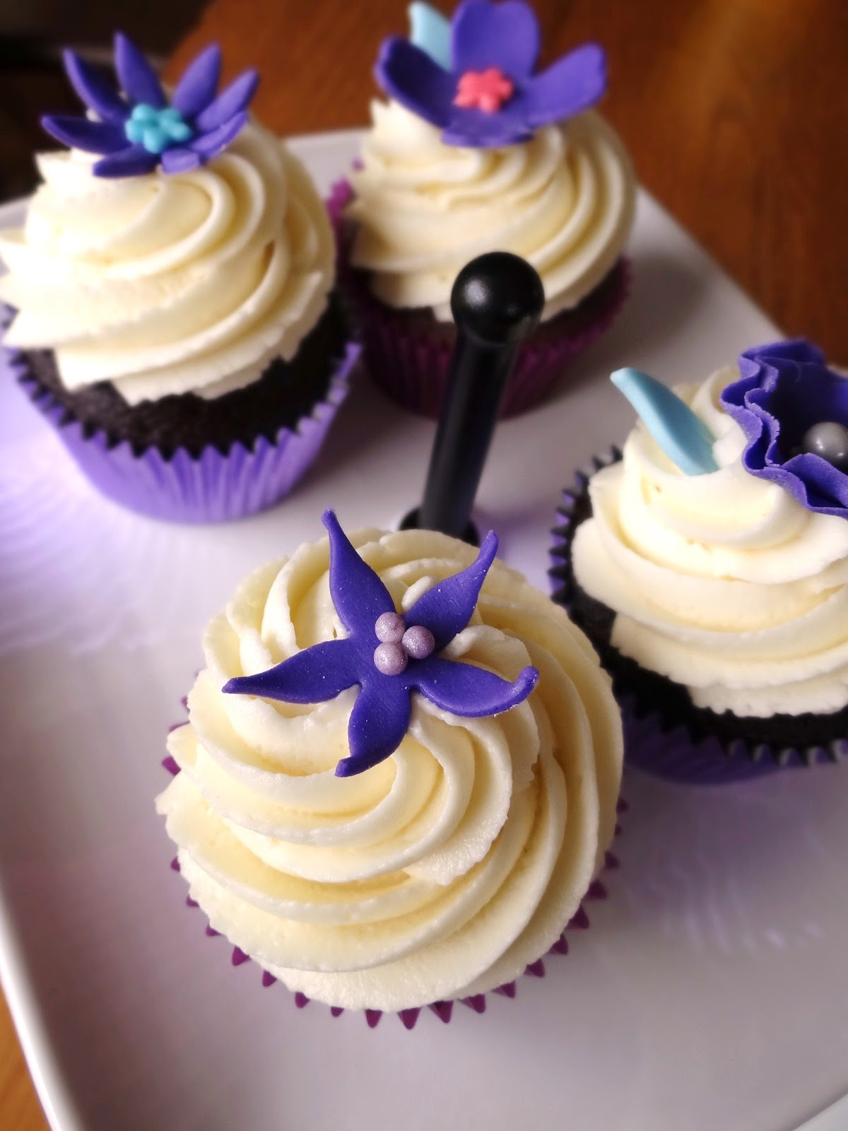 Blue And Purple Wedding Cupcakes Viewing Gallery