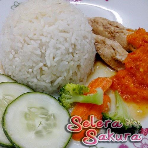 Nasi Ayam Hainan versi Terlebih Sihat