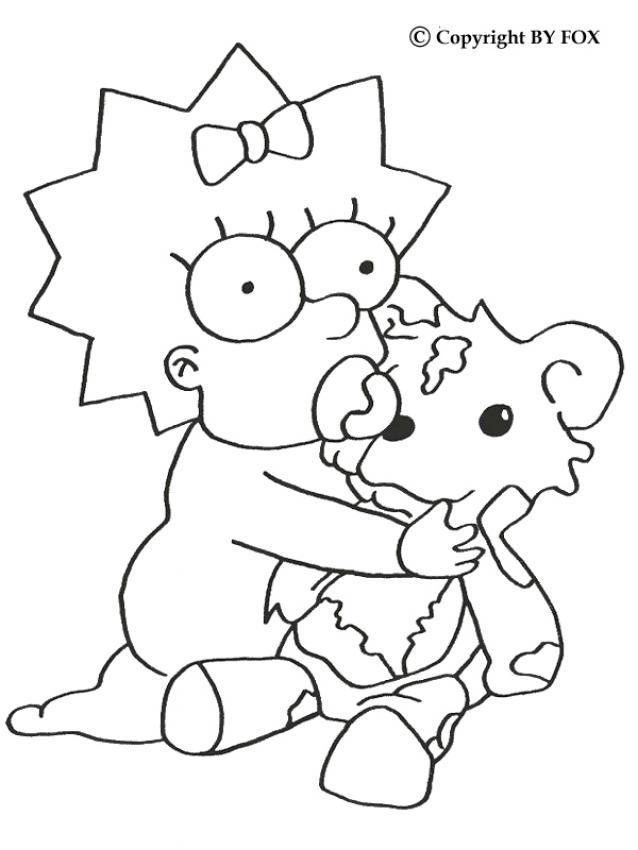 Download image Maggie Simpson Para Dibujar Pintar Colorear Recortar Y