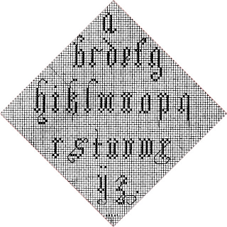 Letras chicas en punto de cruz