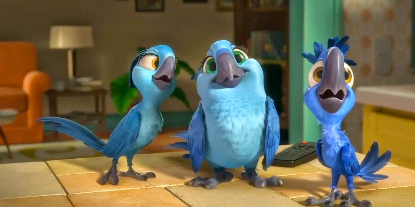 """review: """"rio 2,"""" starring jesse eisenberg, anne hathaway, and andy"""