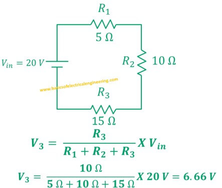 Volage Divider Rule Statment Formula Examples Basics Of