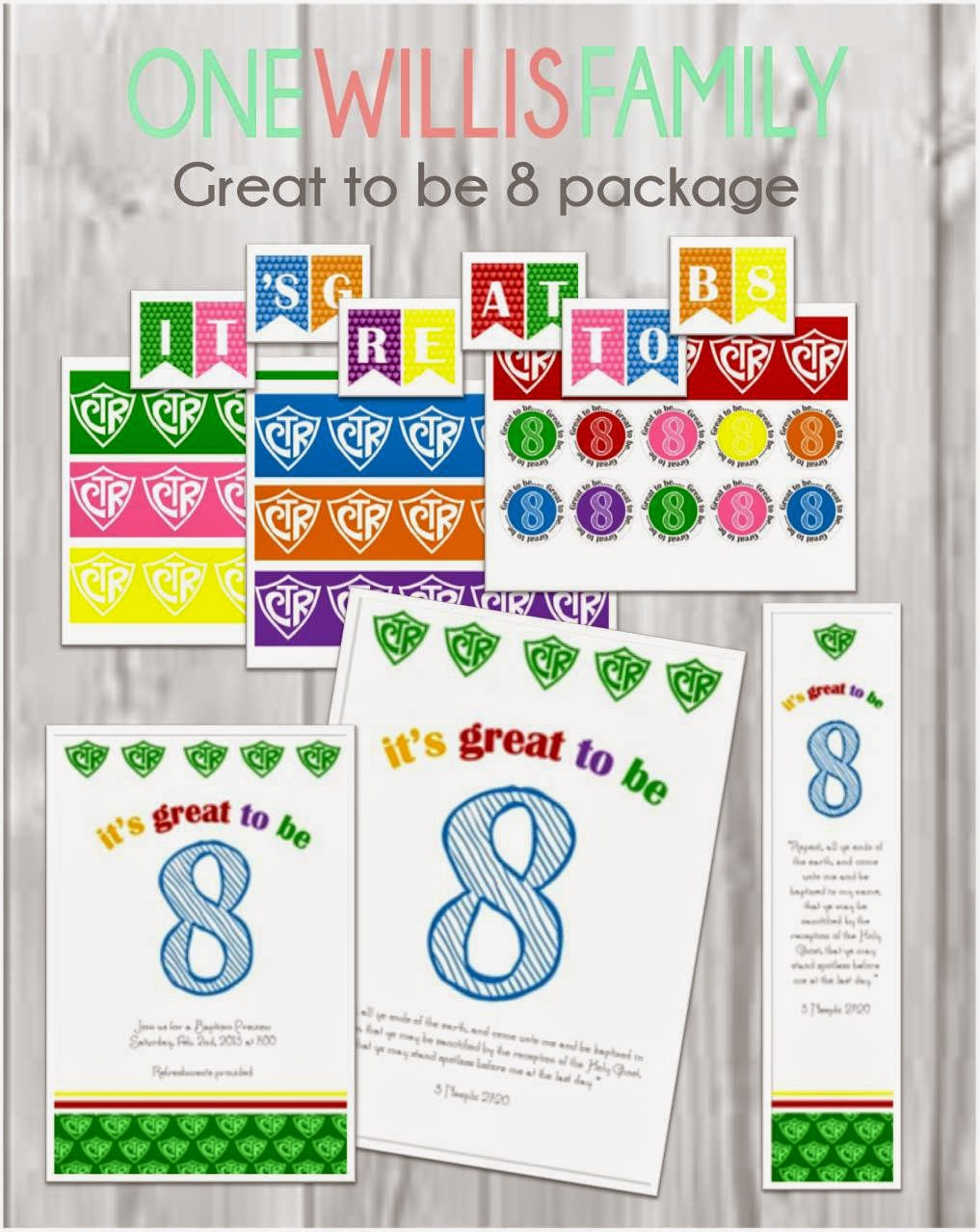 Great to be 8 printable invitation