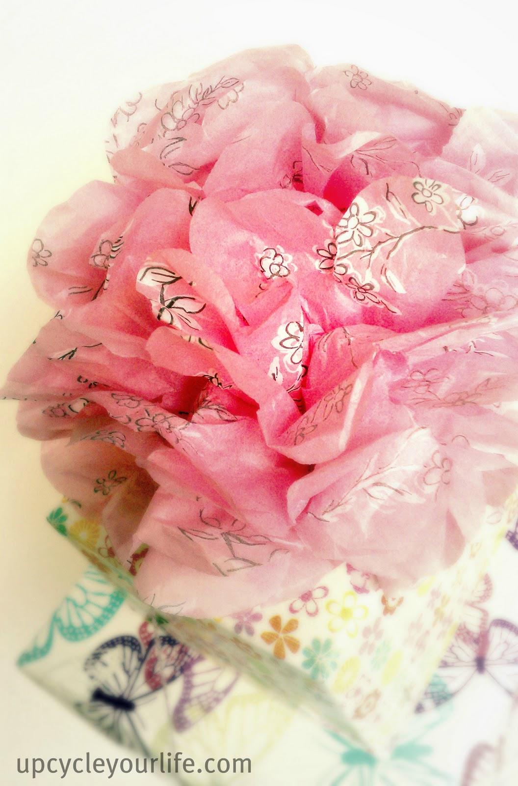 Tissue Paper Bow Pom Pom