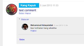 Membuat Komentar Utama dan Reply Berbeda Gaya