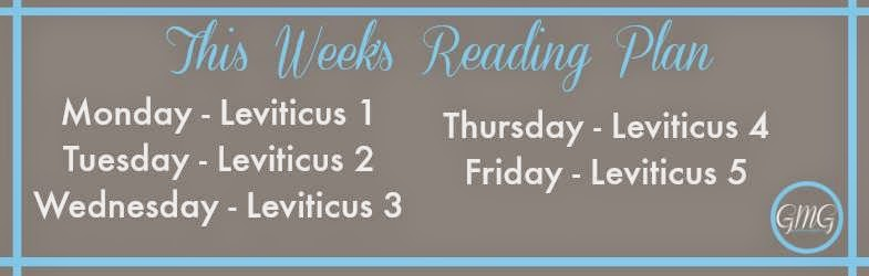 Leviticus Reading Plan