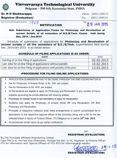 NOTIFICATION – Submission of Application Forms for the Photocopy ...