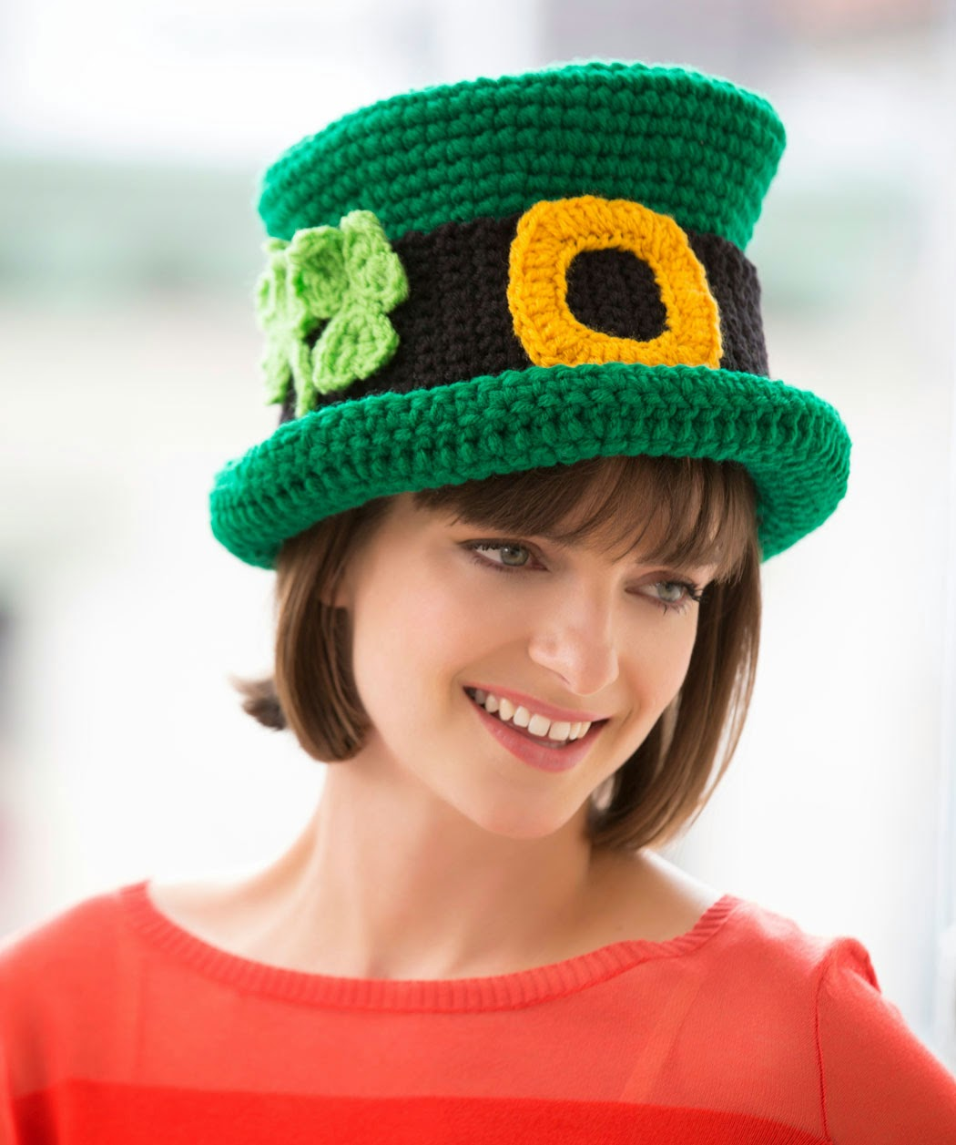 Crochet Pattern Leprechaun Hat : The Hippy Hooker: St Pattys Day Free Crochet Pattern Roundup!