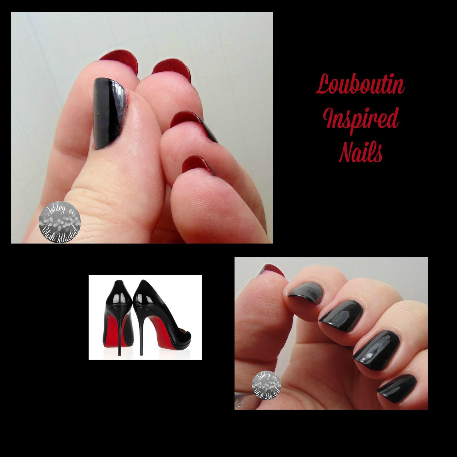 Ashley is PolishAddicted: Christian Louboutin High Heel Inspired Nails