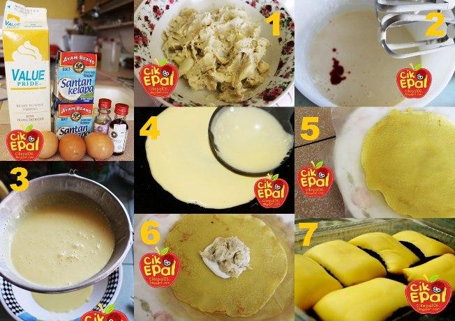 resepi mudah durian crepe